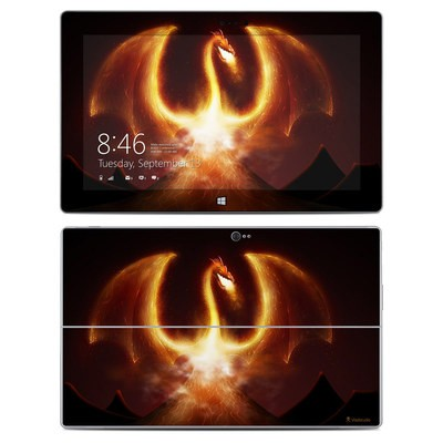 Microsoft Surface 2 Skin - Fire Dragon