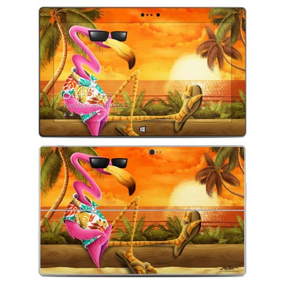 Microsoft Surface 2 Skin - Sunset Flamingo