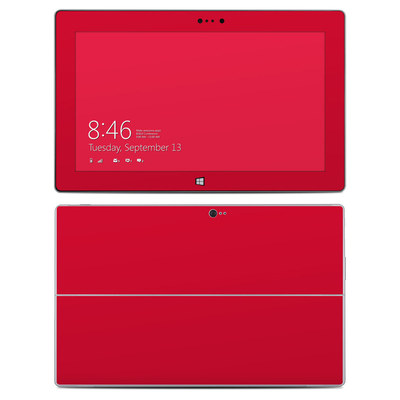 Microsoft Surface 2 Skin - Solid State Red