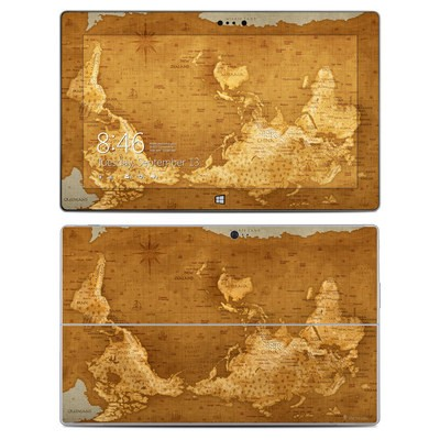 Microsoft Surface 2 Skin - Upside Down Map