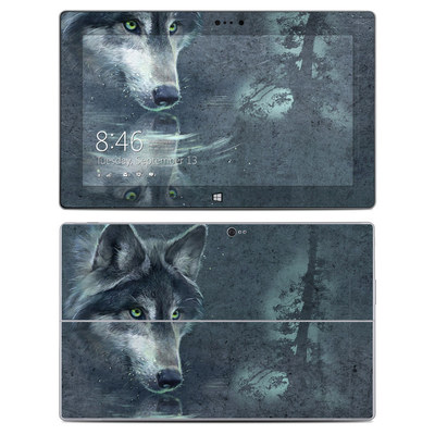 Microsoft Surface 2 Skin - Wolf Reflection