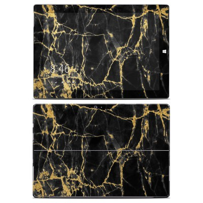 Microsoft Surface 3 Skin - Black Gold Marble