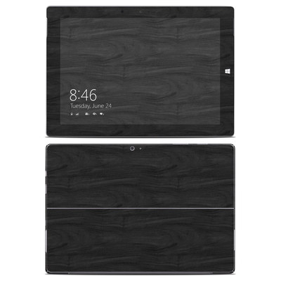 Microsoft Surface 3 Skin - Black Woodgrain