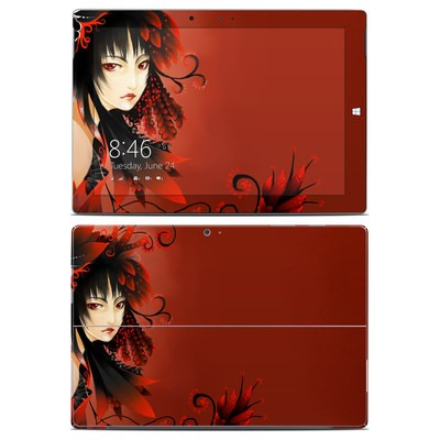Microsoft Surface 3 Skin - Black Flower