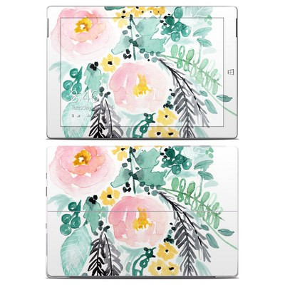 Microsoft Surface 3 Skin - Blushed Flowers