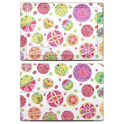 Microsoft Surface 3 Skin - Round Flowers