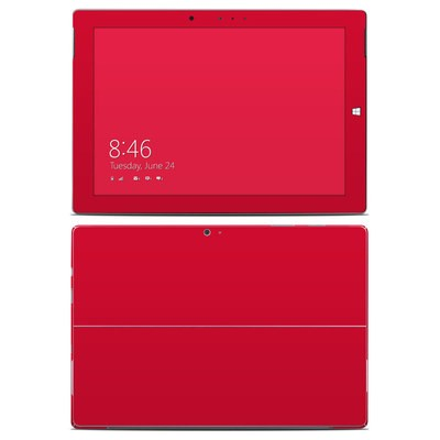Microsoft Surface 3 Skin - Solid State Red
