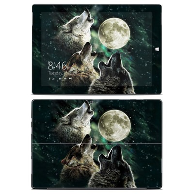 Microsoft Surface 3 Skin - Three Wolf Moon