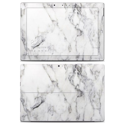 Microsoft Surface 3 Skin - White Marble