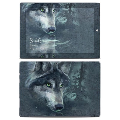 Microsoft Surface 3 Skin - Wolf Reflection