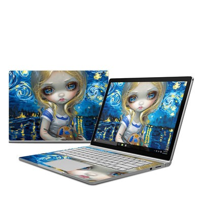 Microsoft Surface Book Skin - Alice in a Van Gogh