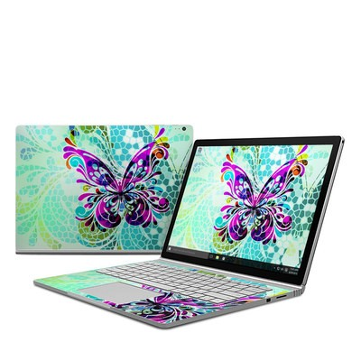 Microsoft Surface Book Skin - Butterfly Glass