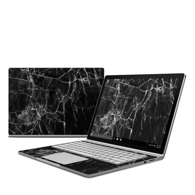 Microsoft Surface Book Skin - Black Marble