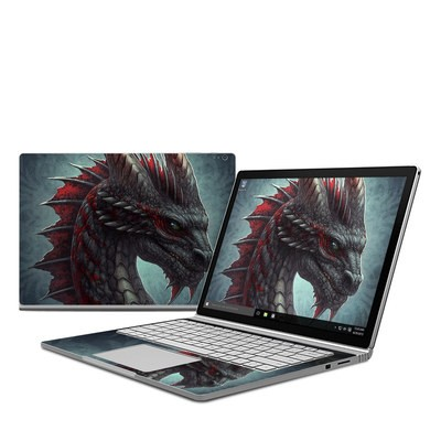 Microsoft Surface Book Skin - Black Dragon
