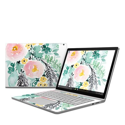 Microsoft Surface Book Skin - Blushed Flowers