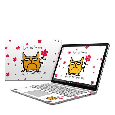 Microsoft Surface Book Skin - Catwad Happy