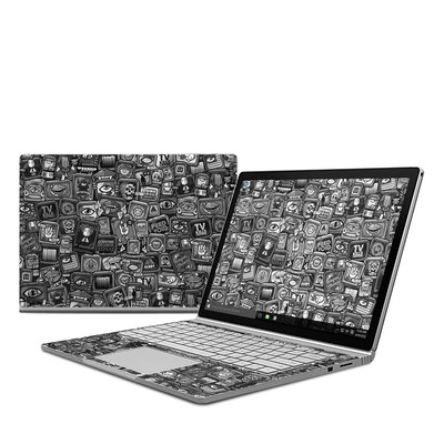 Microsoft Surface Book Skin - Distraction Tactic B&W