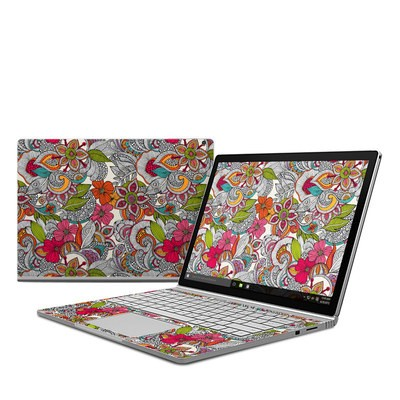 Microsoft Surface Book Skin - Doodles Color