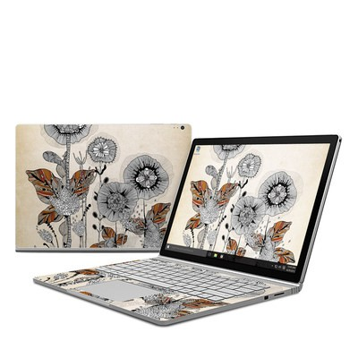 Microsoft Surface Book Skin - Four Flowers