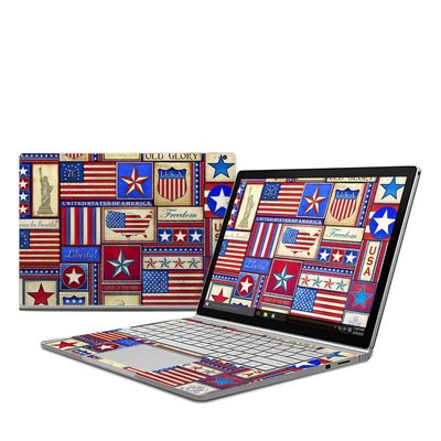 Microsoft Surface Book Skin - Flag Patchwork