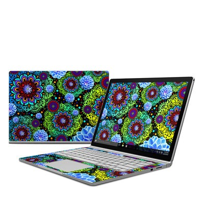 Microsoft Surface Book Skin - Funky Floratopia
