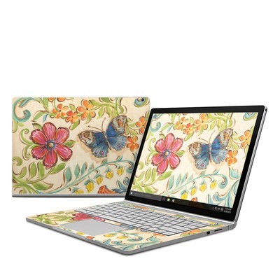 Microsoft Surface Book Skin - Garden Scroll