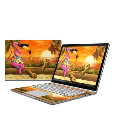 Microsoft Surface Book Skin - Sunset Flamingo