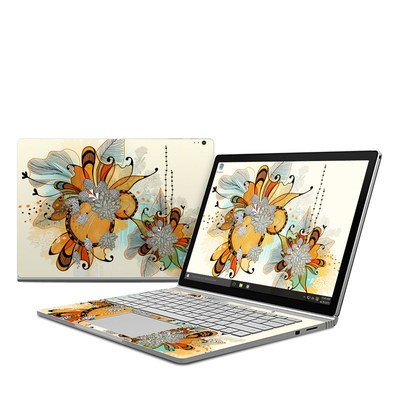 Microsoft Surface Book Skin - Sunset Flowers