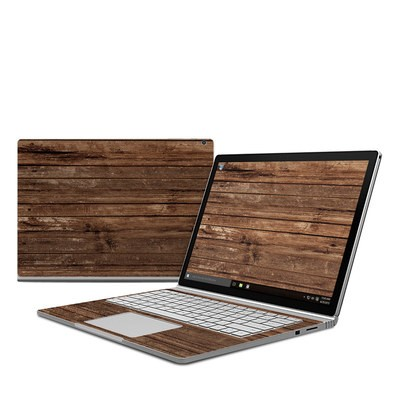 Microsoft Surface Book Skin - Stripped Wood