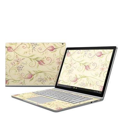Microsoft Surface Book Skin - Tulip Scroll