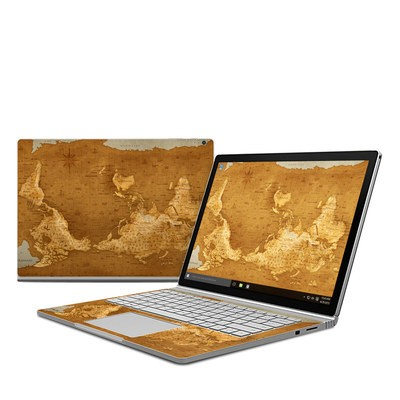 Microsoft Surface Book Skin - Upside Down Map