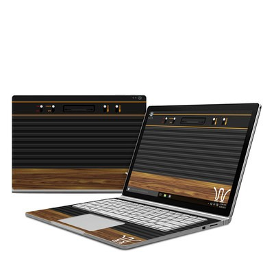 Microsoft Surface Book Skin - Wooden Gaming System