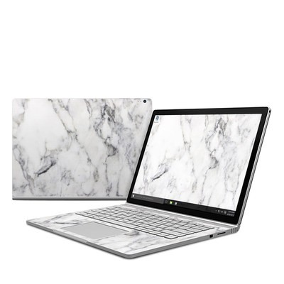 Microsoft Surface Book Skin - White Marble
