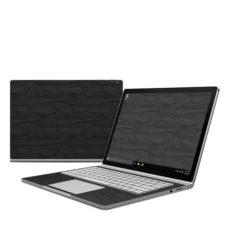 Microsoft Surface Book Skin Black Woodgrain Decalgirl