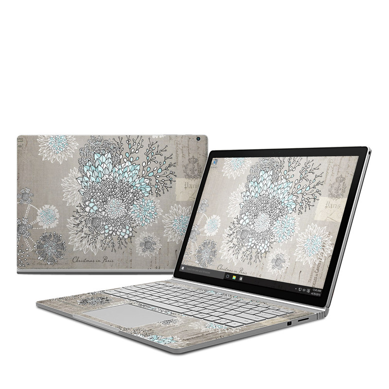 microsoft surface book skin christmas in paris by iveta abolina decalgirl. Black Bedroom Furniture Sets. Home Design Ideas