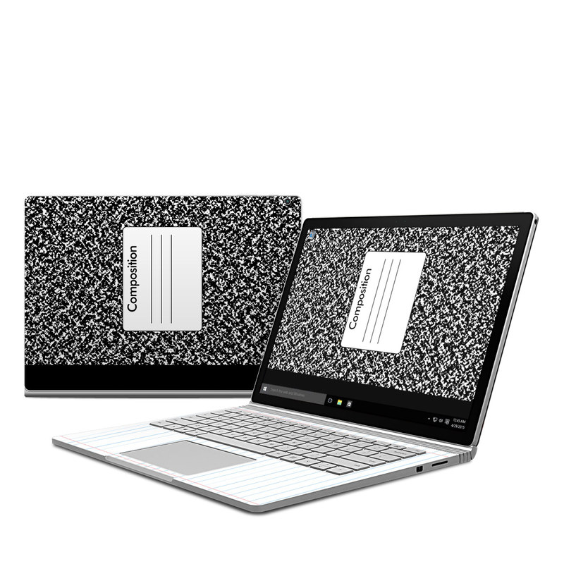 microsoft surface book skin composition notebook by retro decalgirl