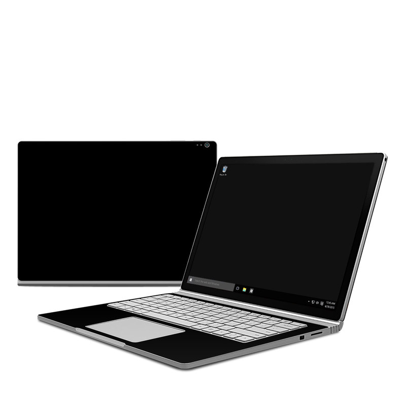 microsoft surface book skin solid state black by solid colors