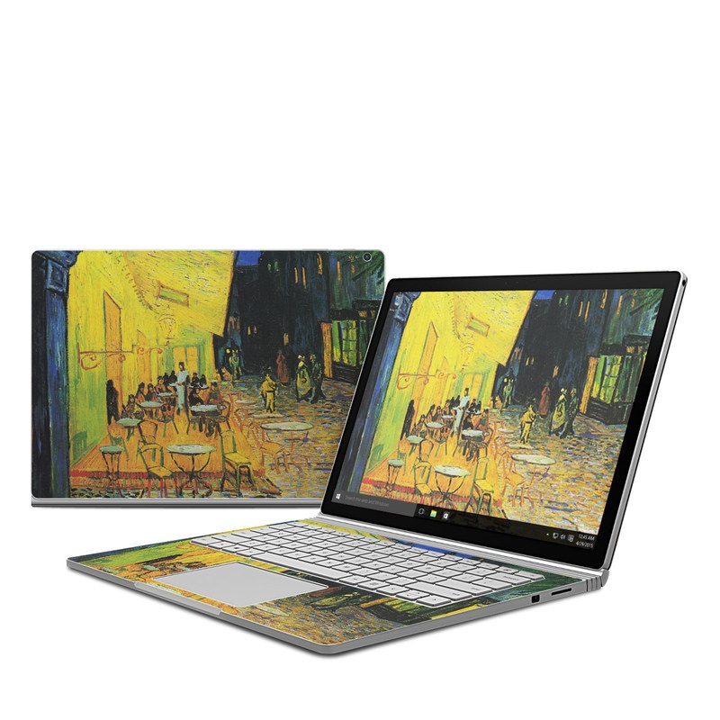 Microsoft Surface Book Skin Cafe Terrace At Night By