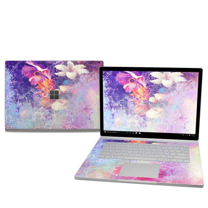 Microsoft Surface Book 2 15in (i7) Skin - Sketch Flowers Lily
