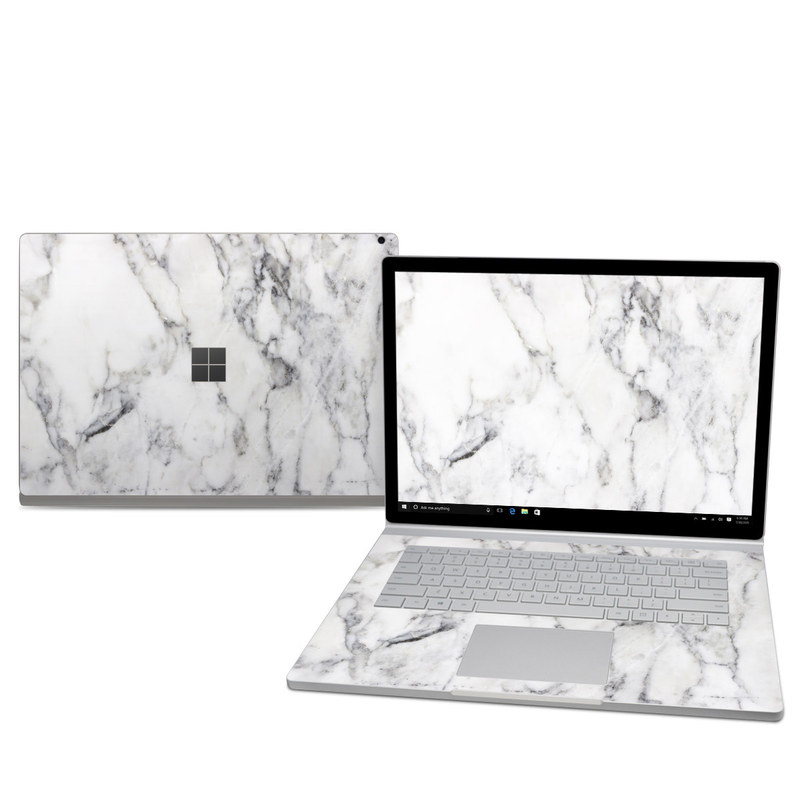 Microsoft Surface Book 2 15in I7 Skin White Marble By