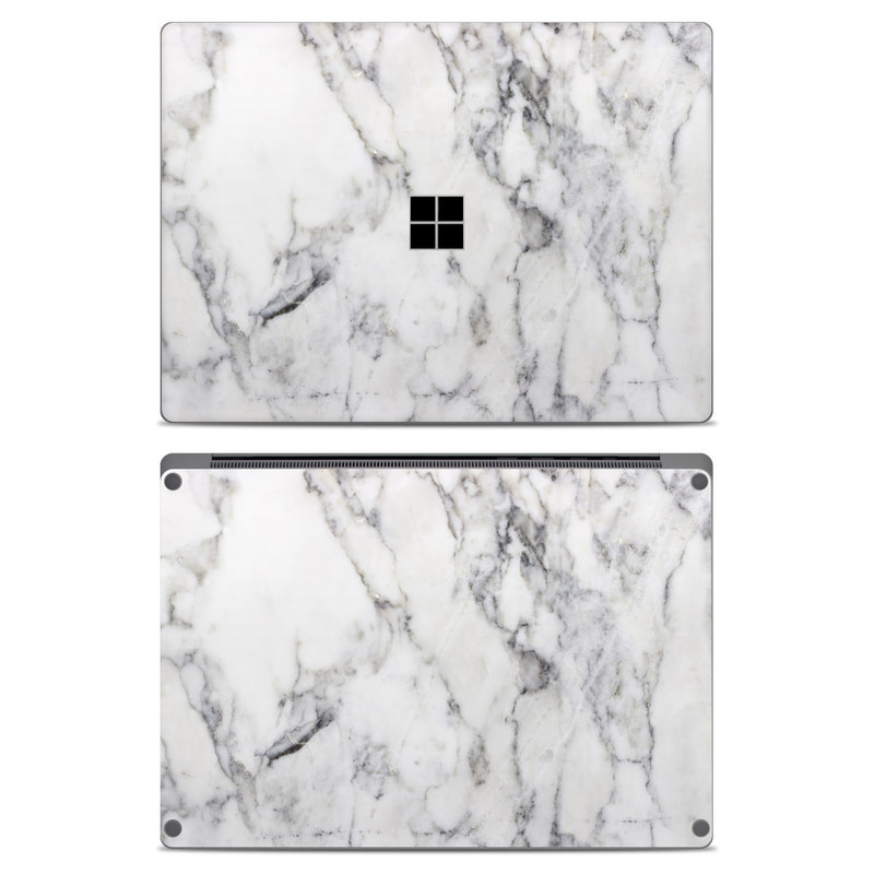 Microsoft Surface Laptop Skin - White Marble