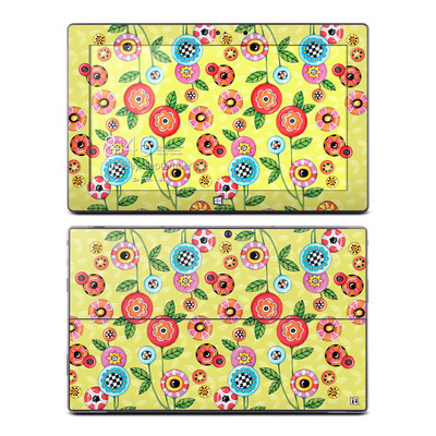 Microsoft Surface Pro Skin - Button Flowers