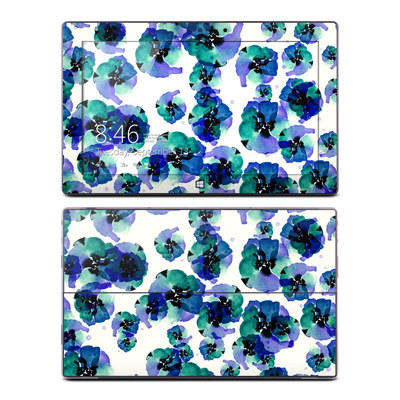 Microsoft Surface Pro Skin - Blue Eye Flowers
