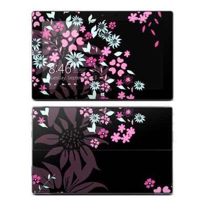 Microsoft Surface Pro Skin - Dark Flowers