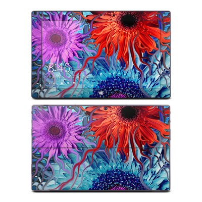 Microsoft Surface Pro Skin - Deep Water Daisy Dance
