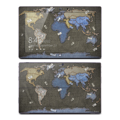Microsoft Surface Pro Skin - Jean Map