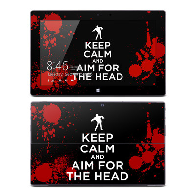 Microsoft Surface Pro Skin - Keep Calm - Zombie