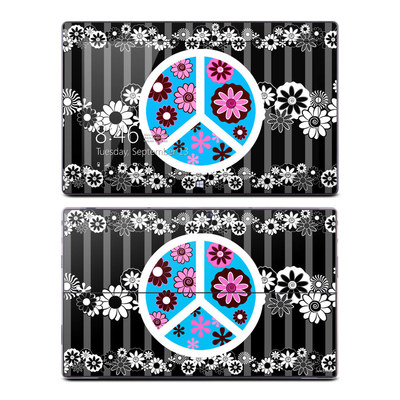 Microsoft Surface Pro Skin - Peace Flowers Black