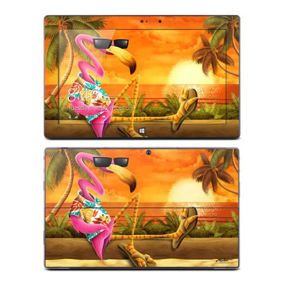 Microsoft Surface Pro Skin - Sunset Flamingo