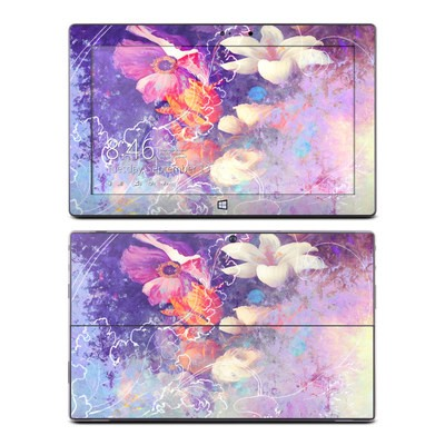 Microsoft Surface Pro Skin - Sketch Flowers Lily